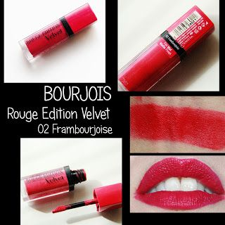 MichelaIsMyName: BOURJOIS Rouge Edition Velvet 02 Frambourjoise REV...