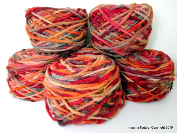 Limited Edition Handspun Hand dyed yarn Pure by ImaginaNatural