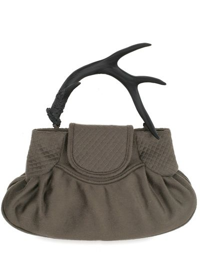 RICH IN CRAFT - GLASS URETHANE ANTLER TOP HANDLE - LUISAVIAROMA - LUXURY SHOPPING WORLDWIDE SHIPPING - FLORENCE :  handbags accessories satchel summer