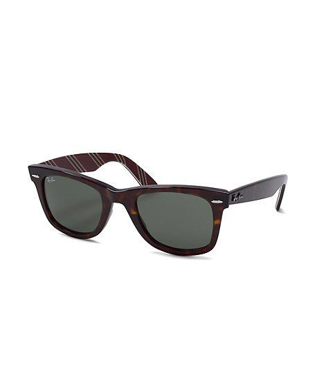 e3b9ef8d895 Ray-Ban Wayfarer Sunglasses with Burgundy BB 1 Repp Stripe - Brooks Brothers
