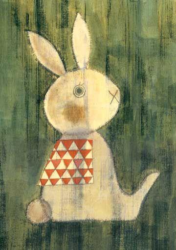 Hisanor Yoshida: Kids Bedrooms, Animal Paintings, Illustrations Kidsbedroom, Rabbit Illustrations, Hisanori Yoshida, Bedrooms Doors, Fun Crafts, Bunnies Pictures, White Rabbit