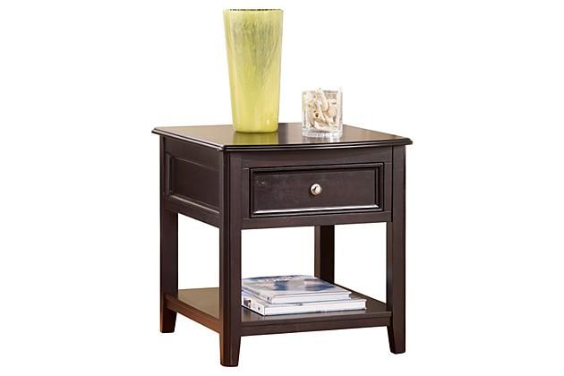 Almost Black Carlyle End Table View   Ashley Furniture Sades