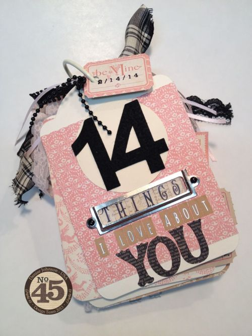 """14 Things I Love About You"" Valentine's Day album using Sweet Sentiments by Denise Johnson! Amazing #Graphic45 #valentinesdays"