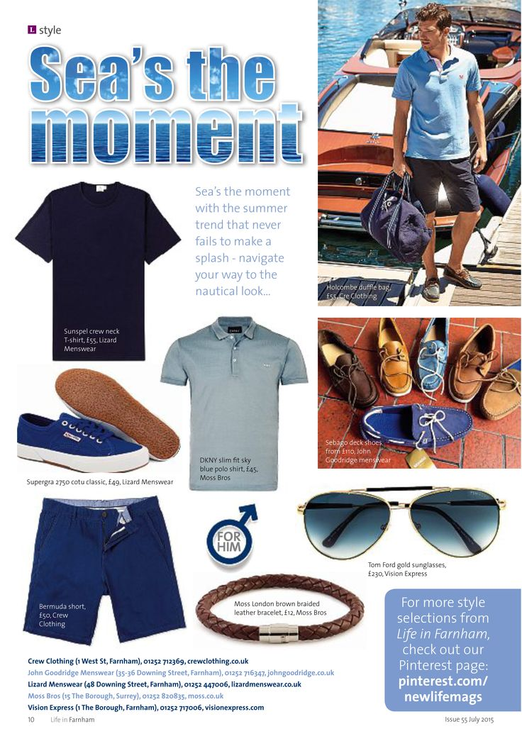 ~ Sea's the moment ~ Navigate your way to the nautical look #locallife #Farnham #Surrey #style #fashion #trends #summer