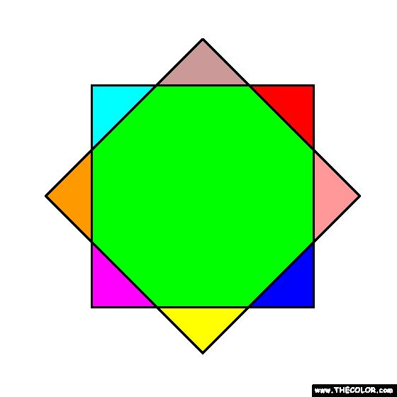 Two Squares Coloring Page