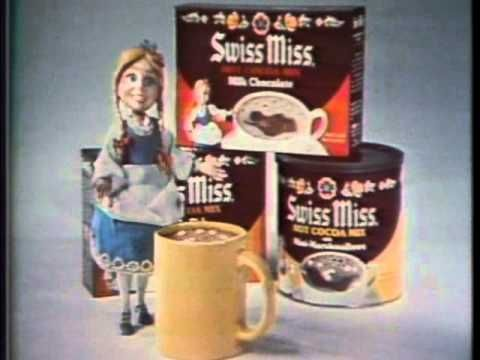 Why don't I remember the Swiss Miss Girl being so creepy in this commercial? : Swiss Miss Instant Cocoa 1977 TV commercial