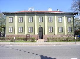 Seinäjoen kaupunki - Suojeluskuntapiirin Esikuntatalo - Suunnittelija Alvar Aalto nuoruusvuosinaan. Rakennus sijaitsee Seinäjoella.