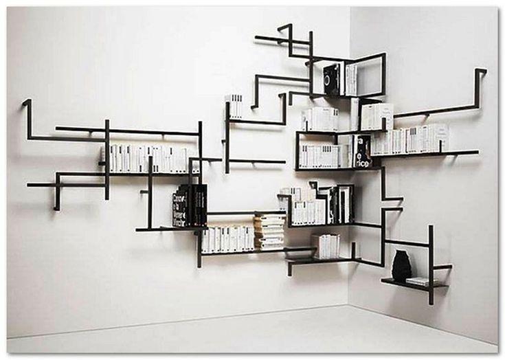 35 Wunderschone Und Attraktive Bucherregaldesign Ideen Mit Denen Ihr Zuhause Ordentlicher Aussieht Regal Design Produktdesign Diy Mobel Regal