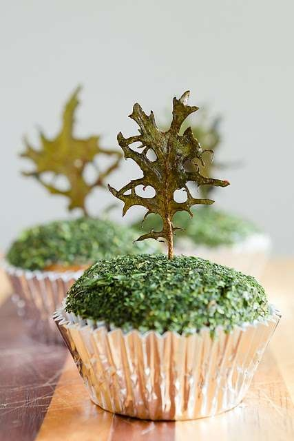 Kale-Clad Confections  These Vegetable Cupcakes Prove That Dessert Can be Nutritious and Deliciou