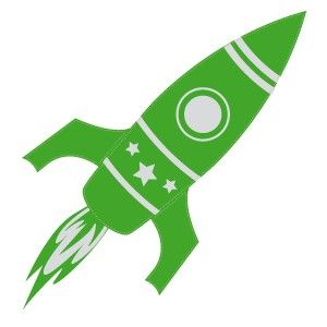 Tatouage temporaire fusée verte