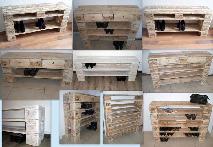 """Schuhschränke - """"DEINS"""" Schuhregal aus Paletten ab 30€ - ein Designerstück von Woodful bei DaWanda"""