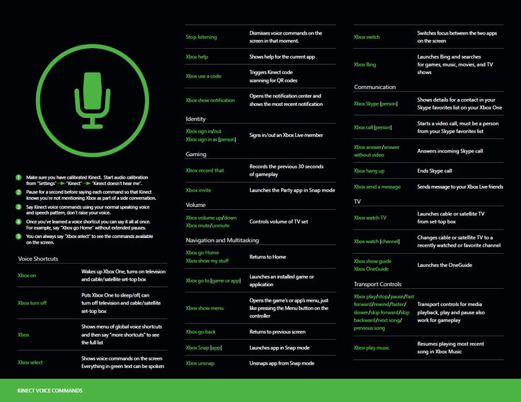Here are all the xbox one voice commands