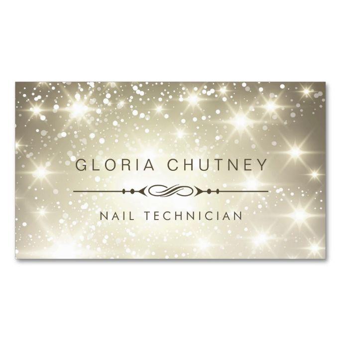 27 best business cards images on pinterest business card design nail technician sparkling bokeh glitter business card reheart Gallery
