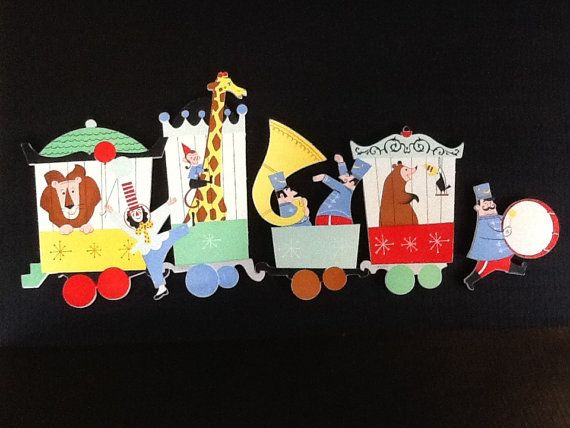 Children's Bedroom Wall Hanging or Playroom by VintagebyViola, $45.00 child's home decor must have circus theme