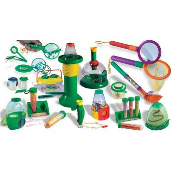 A collection of 14 fantastic resources for catching and observing minibeasts and other wonders of nature. Includes a bug observation dome, bugnoculars, bug scooper, magnifier kit, bug jar with magnifiers, bug jar with clips, bug viewer, giant test tubes set, small test tubes set, aquascope, magnifier and net set, mini lab magnifier, powerscope and ant mountain.