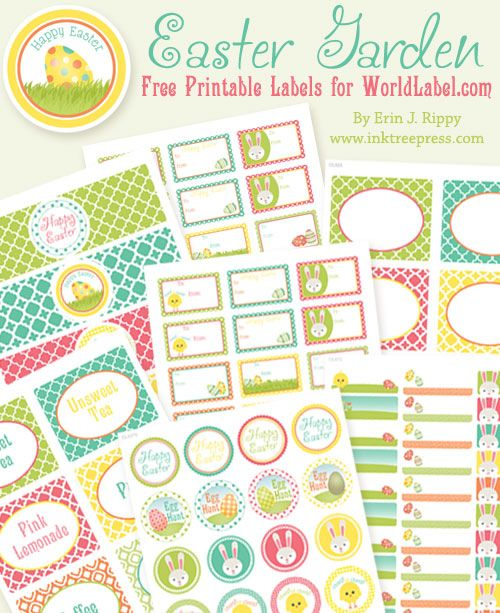 Easter labels designed byInktreepressfor free. This splendidgarden design collection includes water bottle labels, address labels, round stickers, To and From labels and more! Labels are in printable PDF templates. Download your free Easter Labels collection now.