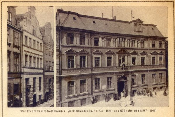 Königsberg (Pr.), Fleischbänkenstraße 3 und Münzstraße 24b, Frühere Geschäftshäuser der Königsberger Allgemeinen Zeitung
