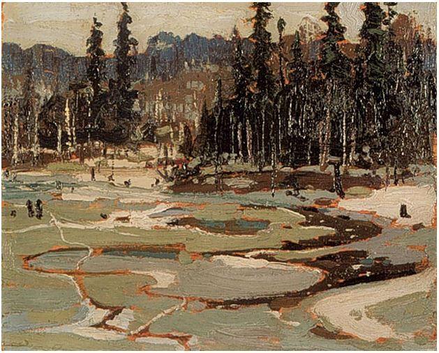Tom Thomson Catalogue Raisonné | Portage, Ragged Lake, Spring 1915 (1915.08) | Catalogue entry