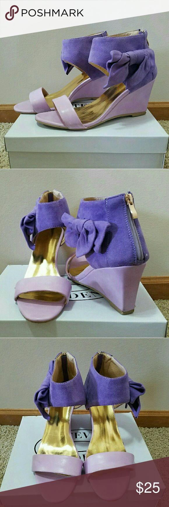 Purple Wedge Like new Shoes Wedges