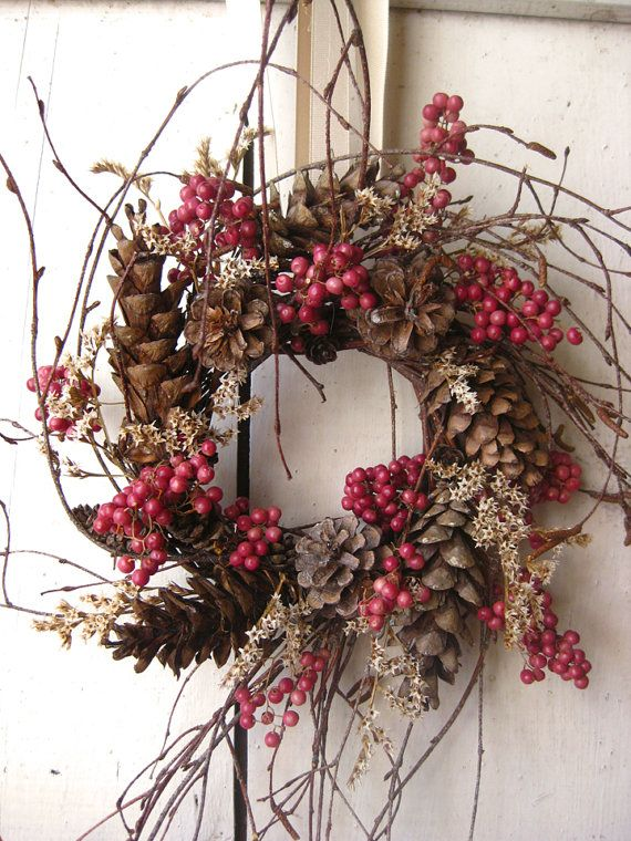Wreath,this one you can be used through most of the Holiday's