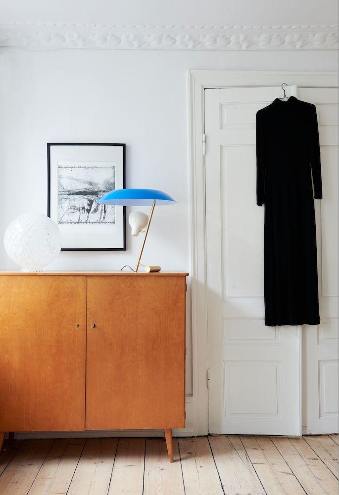 Minimalist interior space. Mid century modern dresser mixed with minimalist design.