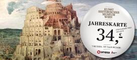 [x] KHM-Jahreskarte (34€): Kunsthistorisches Museum, Schatzkammer, Neue Burg, Wagenburg, Museum für Völkerkunde, Österreichisches Theatermuseum
