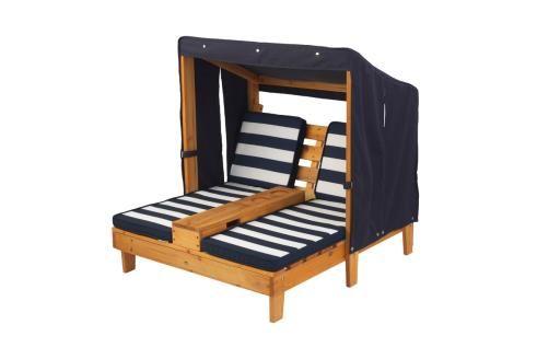 Double chaise longue en bois<br> Dès 3 ans