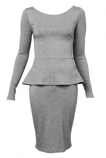 Designed in collaboration with Madison is this wool peplum dress from Witchery.