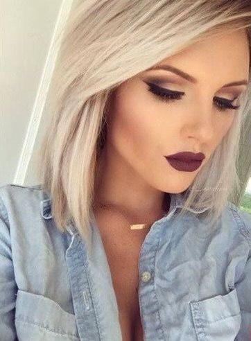 Wish I could pull off a dark lip