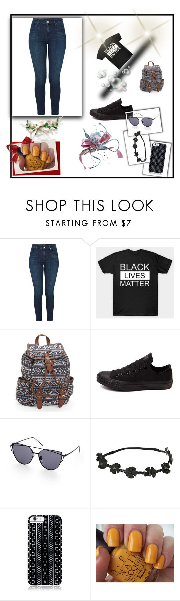"""Bez naslova #6"" by cikorija-intubus ❤ liked on Polyvore featuring J Brand, Aéropostale, Converse, Hot Topic, Savannah Hayes and OPI"
