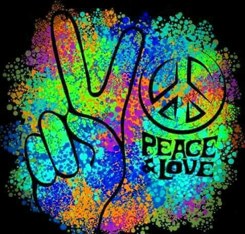 Clipart - Prismatic Peace Sign Background 5 Variation 4