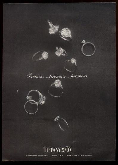 1963 ten large diamond engagement rings photo Tiffany's jewelry vintage print ad   eBay