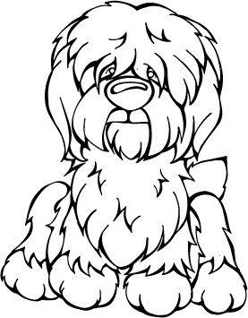 Old English Sheepdog Decal Dog