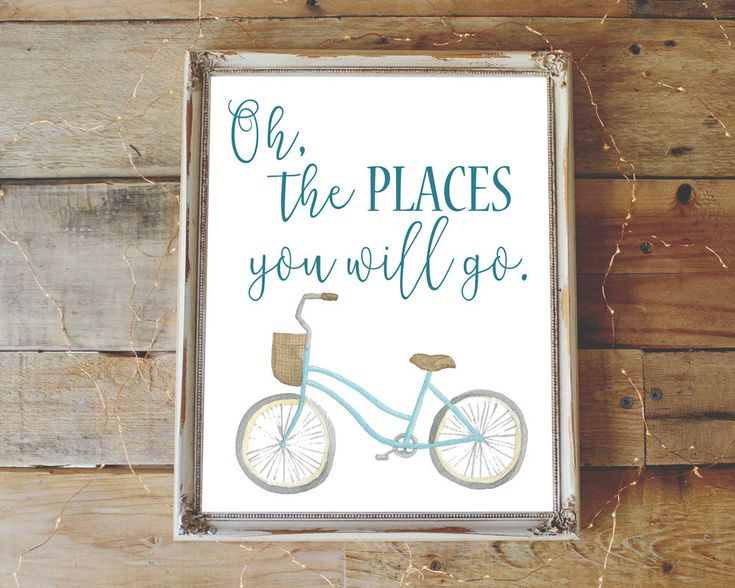 INSTANT DOWNLOAD Nursery Wall Art Bicycle Quote by BrokeGirlGraphics on Etsy