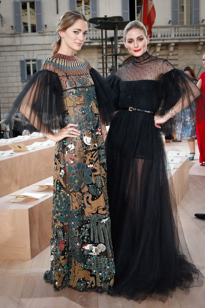 Olivia Palermo and Sofia Sanchez Barrenechea - Valentino 'Mirabilia Romae' Haute Couture Fall 2015 Front Row - July 9, 2015