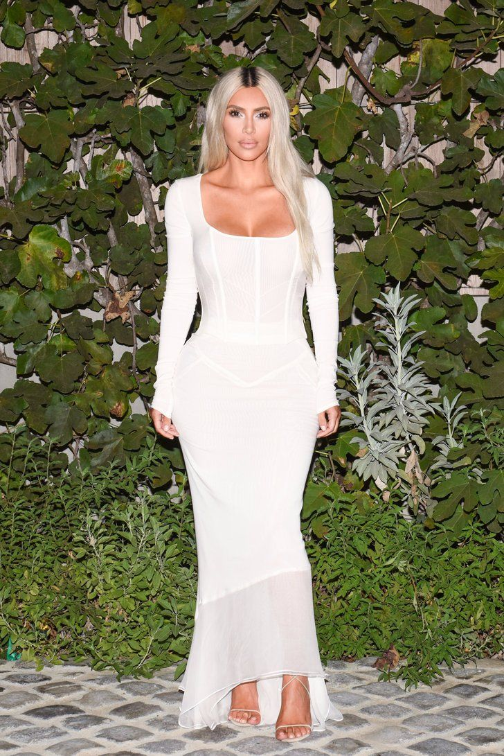 The 25 best kim kardashian white dress ideas on pinterest kim only kim kardashian can get away with wearing a sheer sexy white dress like this ombrellifo Image collections