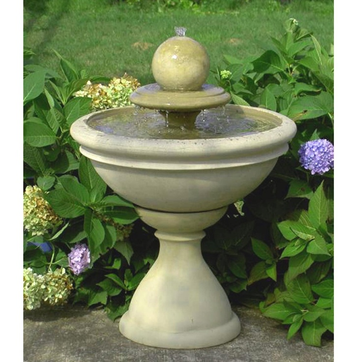 Bradley Tiered Garden Fountain With Sphere Party Ideas 400 x 300