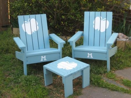 kids adirondack chairs and a little scrap table too! | Do It Yourself Home Projects from Ana White
