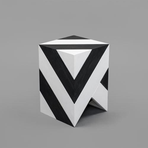 Series 45 stool black and white pattern