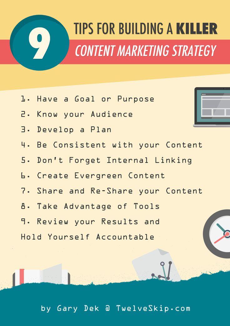Tips For Building A Killer Content Marketing Strategy: http://www.twelveskip.com/marketing/content-marketing/1355/build-content-marketing-strategy #contentmarketing #internetmarketing