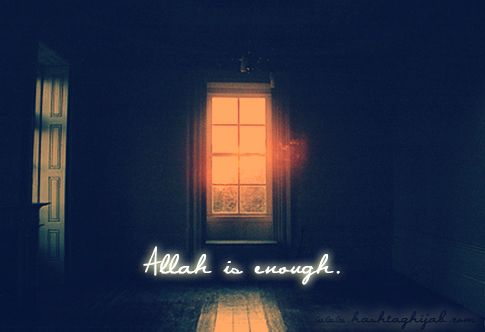 Allah is enough. | © www.hashtaghijab.com