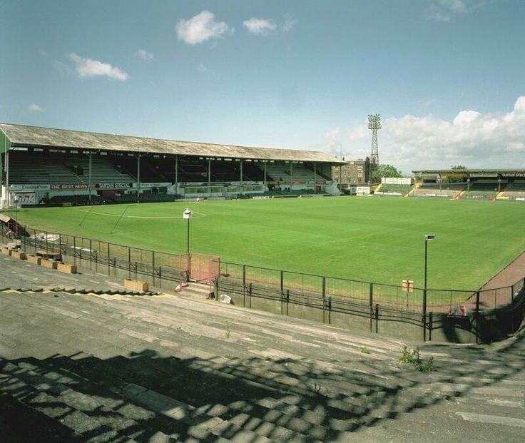 Vintage Stadium Lights: Easter Road, Hibernian In The 1980s.