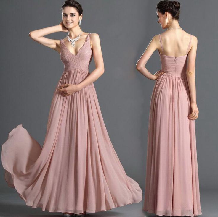 Trending Pretty A Line Floor Length Zipper Up Spaghetti Neckline Prom Event Dress Very elegant