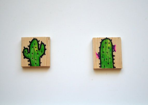 Cactus MagnetWooden Cactus MagnetWood by KubuHandmade on Etsy