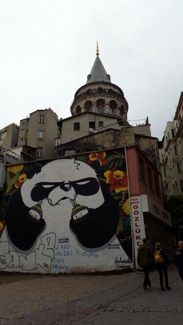 Panda Graffiti , Istanbul