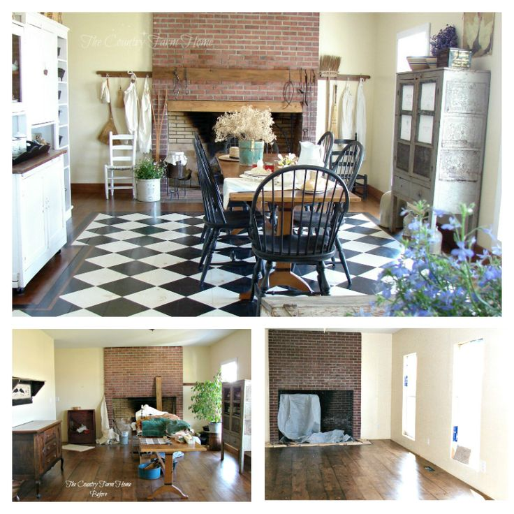 The Country Farm Home BEFORE AND AFTER SERIES Farmhouse Keeping Room Farmhousekitchen
