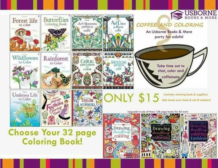 coffee and coloring - Usborne Coloring Books