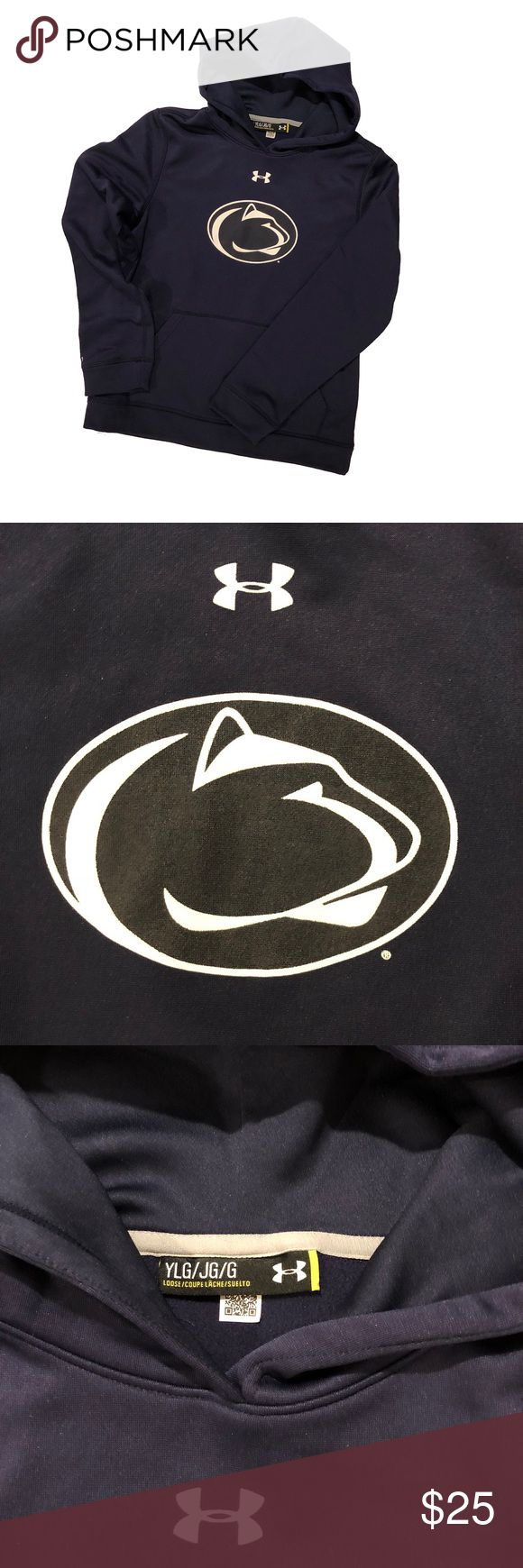 Under Armour Penn State Hoody EUC Dry fit Penn State University Hoody with pristine Nittany Lion logo on chest PSU Under Armour Shirts & Tops Sweatshirts & Hoodies