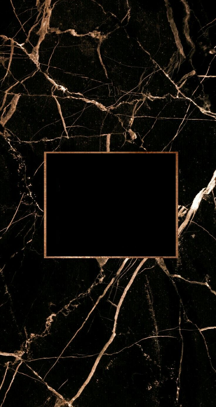 Iphone Wallpapers – Black marble with rose gold foil and a title space