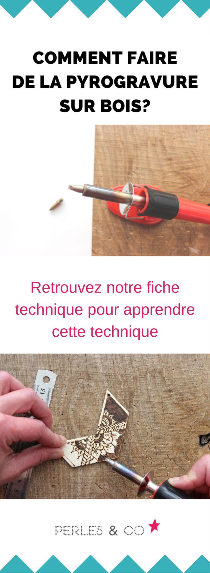comment faire de la pyrogravure? Voici une fiche technique qui vous explique les trucs et les astuces pour réaliser de la pyrogravure sur bois. #pyrogravure #conseil #truc #astuce #technique #tutoriel #pyrograveur #bois #bijoux #diy